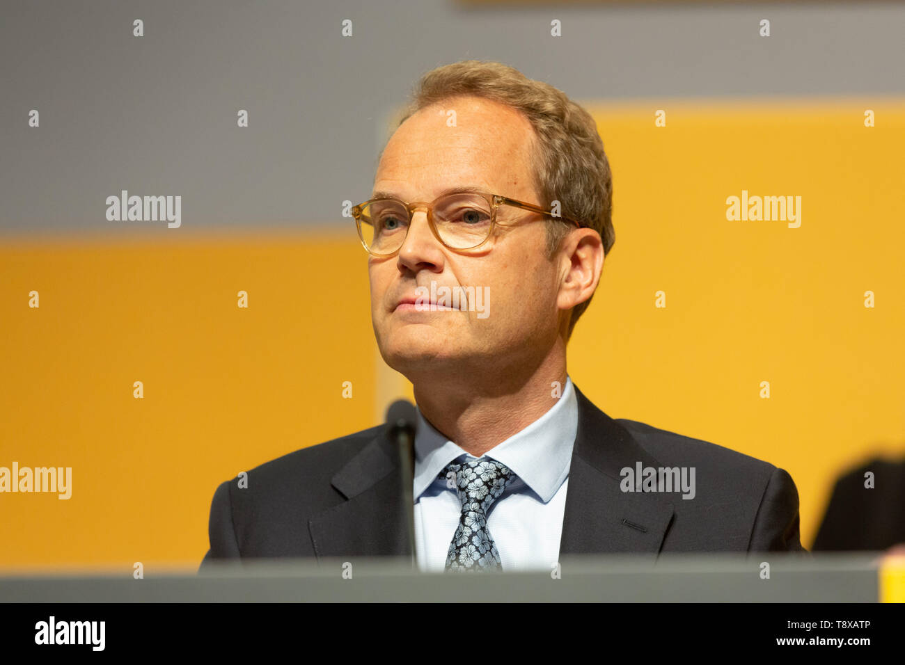 Bonn, Deutschland. 15th May, 2019. Germany, Bonn, May 5 2019, Deutsche Post DHL Annual General Meeting: Member of the executive board Tim Scharwath. Credit: Juergen Schwarz/Alamy Live News - Stock Image