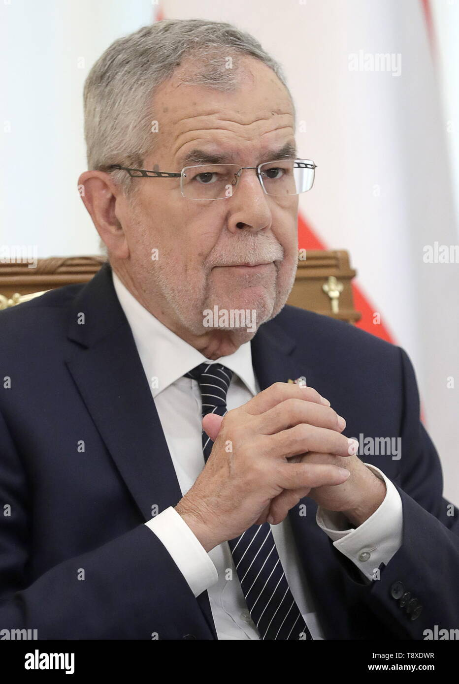 Sochi, Russia. 15th May, 2019. SOCHI, RUSSIA - MAY 15, 2019: Austria's President Alexander Van der Bellen during talks with Russia's President Vladimir Putin (not in picture), at the Rus health resort. Mikhail Metzel/TASS Credit: ITAR-TASS News Agency/Alamy Live News - Stock Image