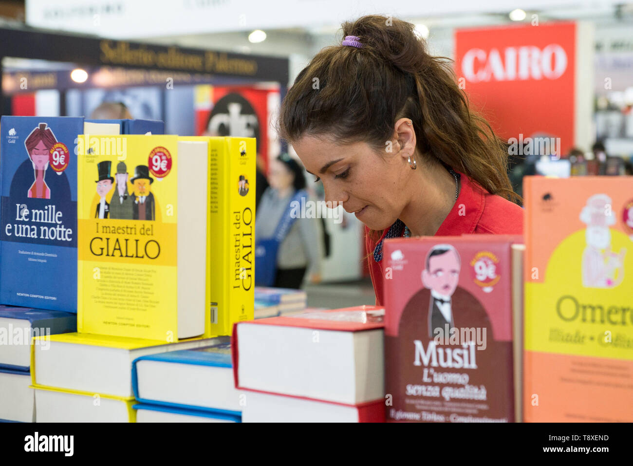 Turin, Piedmont, Italy. 9th May, 2019. Turin, Italy-May 9, 2019: Inauguration of the Turin International Book Fair. Credit: Stefano Guidi/ZUMA Wire/Alamy Live News - Stock Image