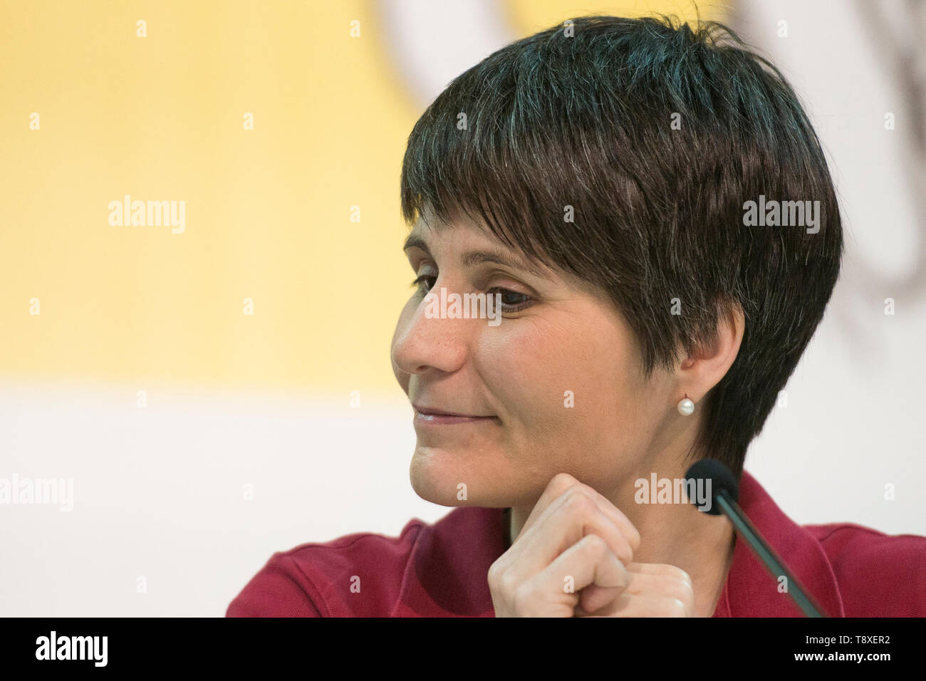 Turin, Piedmont, Italy. 9th May, 2019. Turin, Italy-May 9, 2019: Samantha Cristoforetti during the Inauguration of the Turin International Book Fair Credit: Stefano Guidi/ZUMA Wire/Alamy Live News - Stock Image