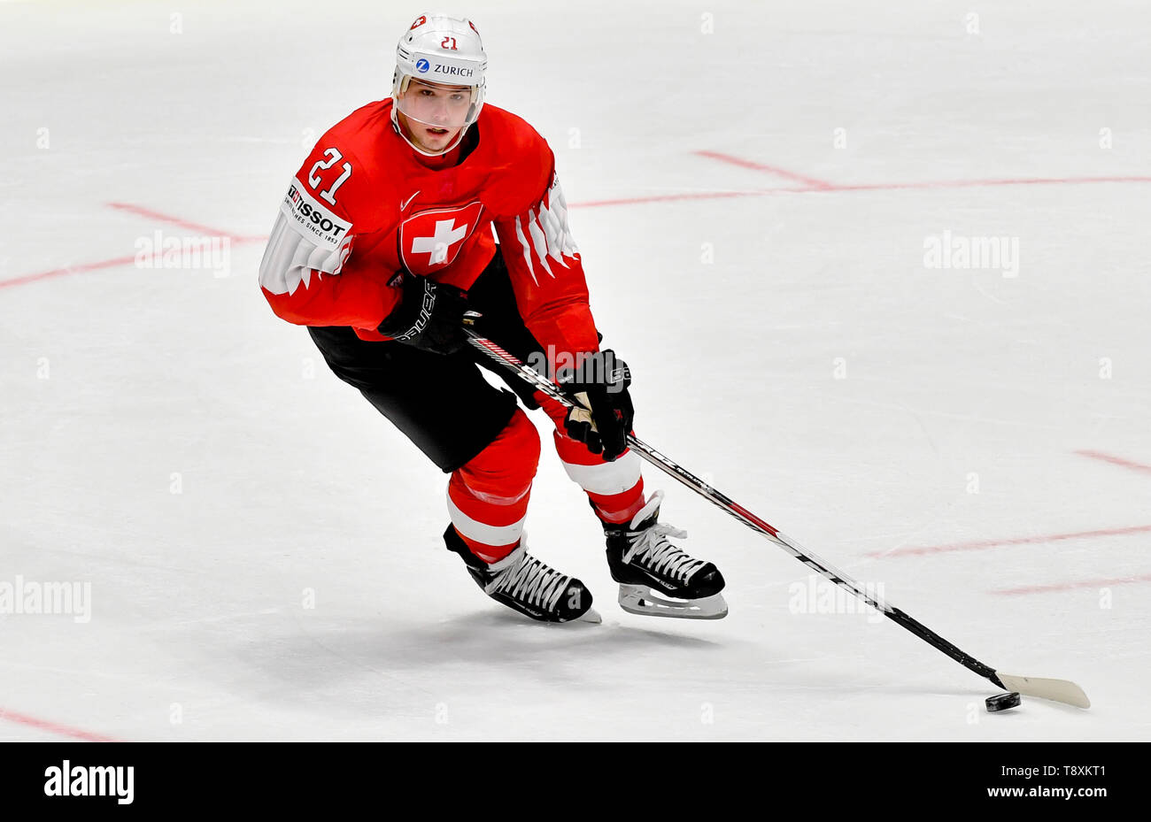 Kevin Fiala (CH) in action during the match between Switzerland and Norway within the 2019 IIHF World Championship in Bratislava, Slovakia, on May 15, 2019. (CTK Photo/Vit Simanek) Stock Photo
