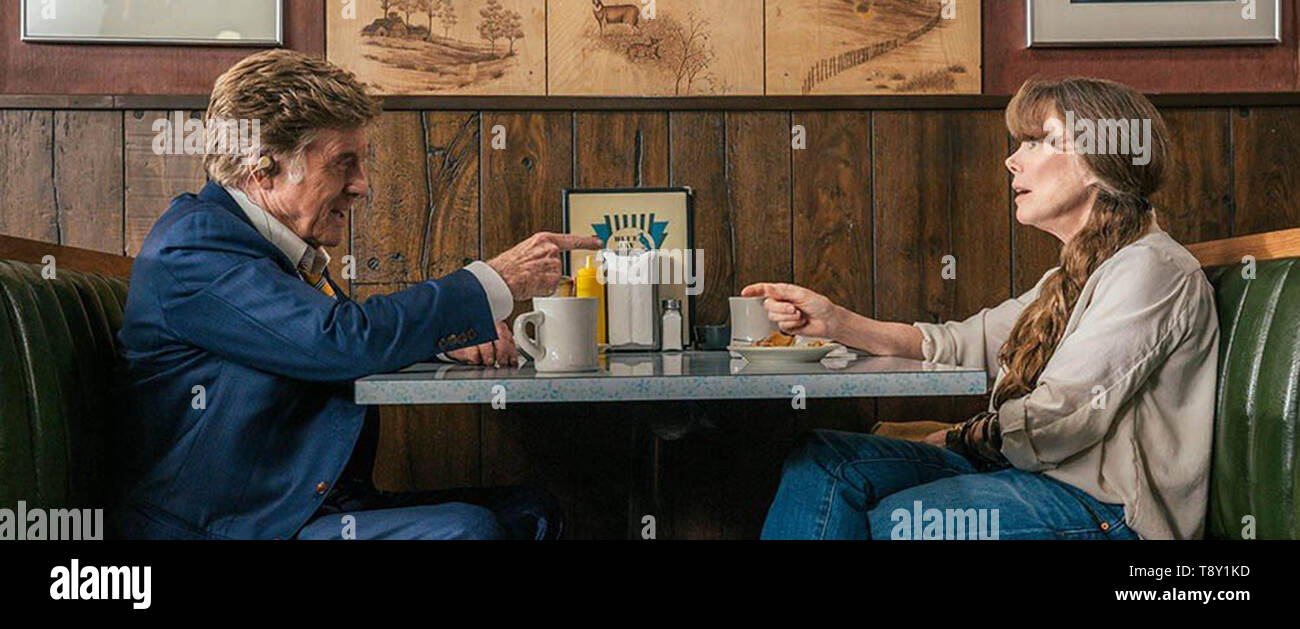 THE OLD MAN AND THE GUN (2018)  ROBERT REDFORD  SISSY SPACEK  DAVID LOWERY (DIR)  FOX SEARCHLIGHT PICTURES/MOVIESTORE COLLECTION LTD - Stock Image