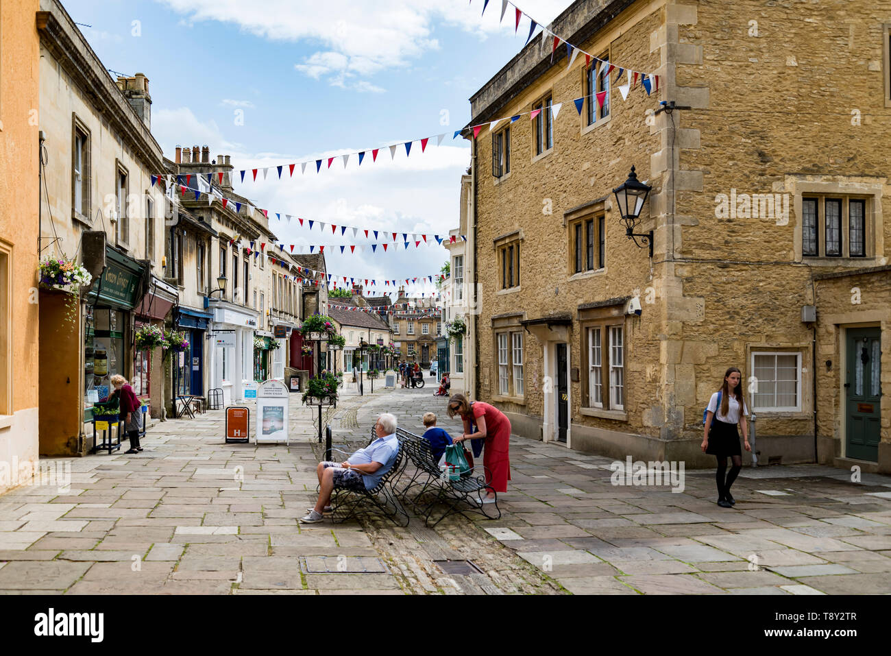 street in the market town of Corsham England, UK Stock Photo
