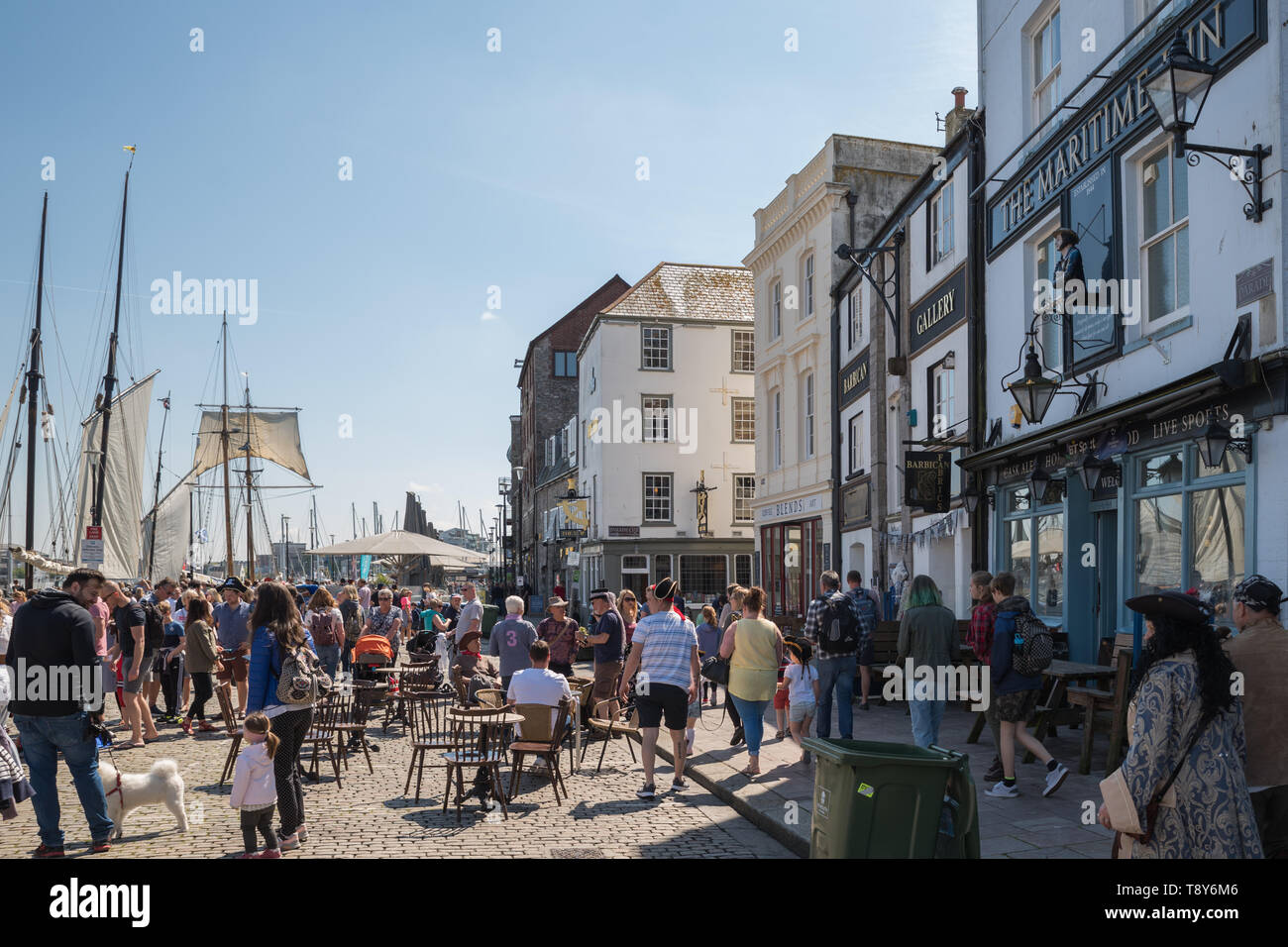 Quay Road. Plymouth Pirate Weekend May 2019 - Stock Image