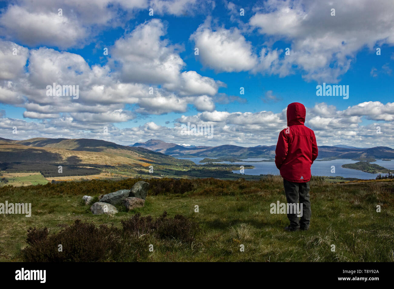 Standing on the Little hill dreaming of the Big Hill - Stock Image