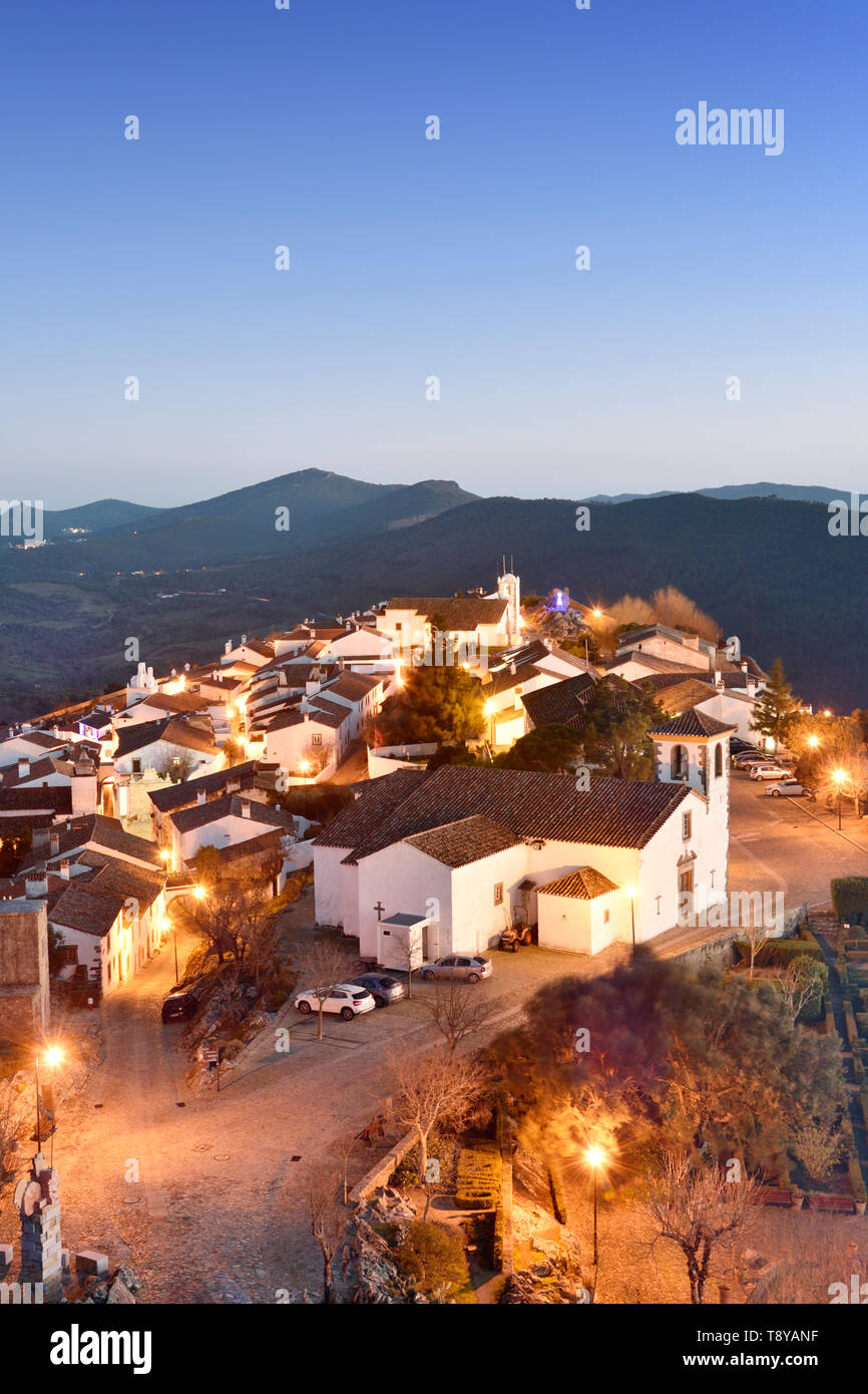 The 9th century village of Marvão with Arab origin. Portugal - Stock Image