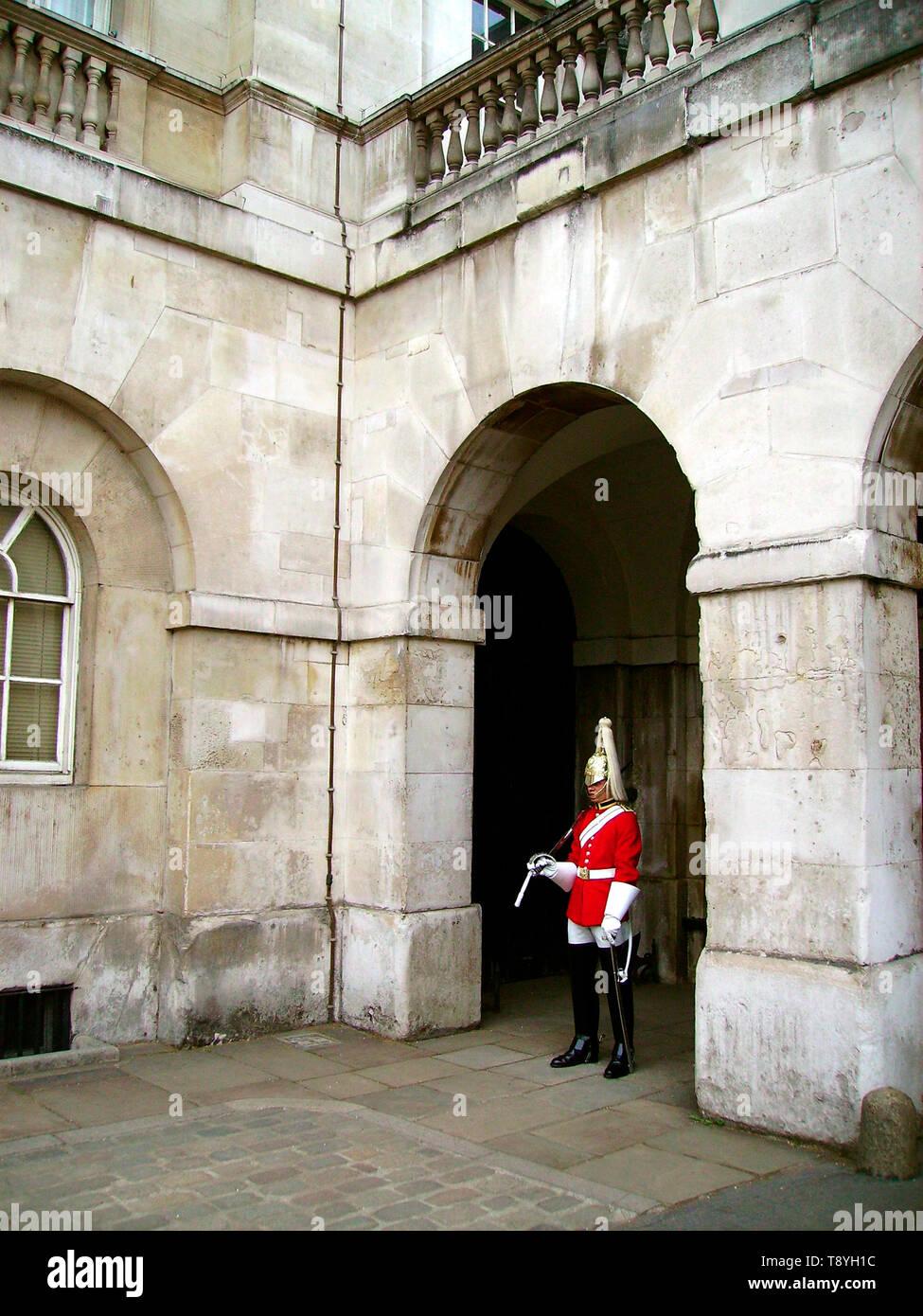 Guard on duty, London, UK - Stock Image