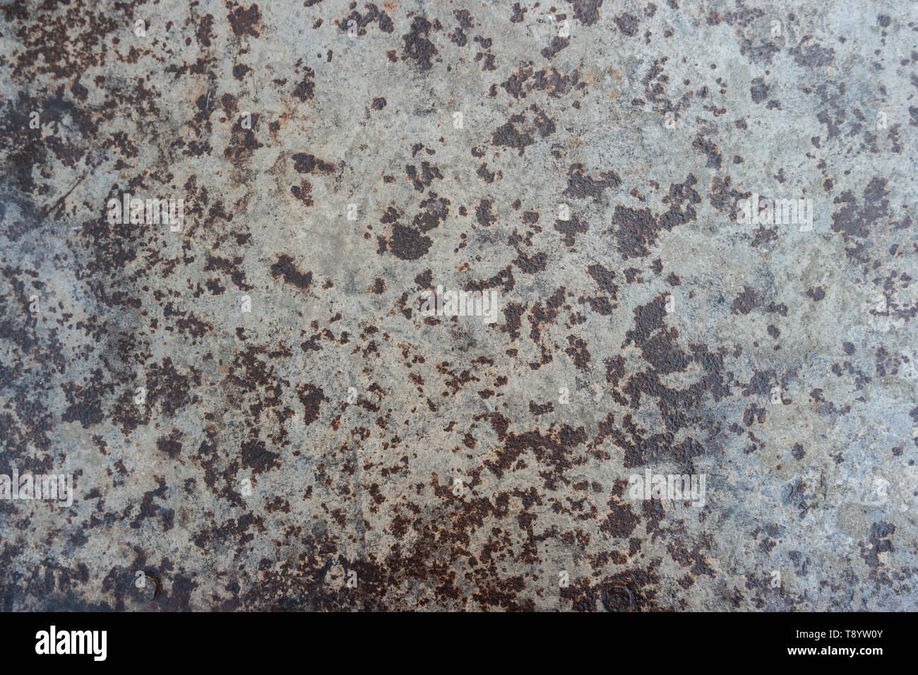 Polished metal surface with traces of corrosion. - Stock Image
