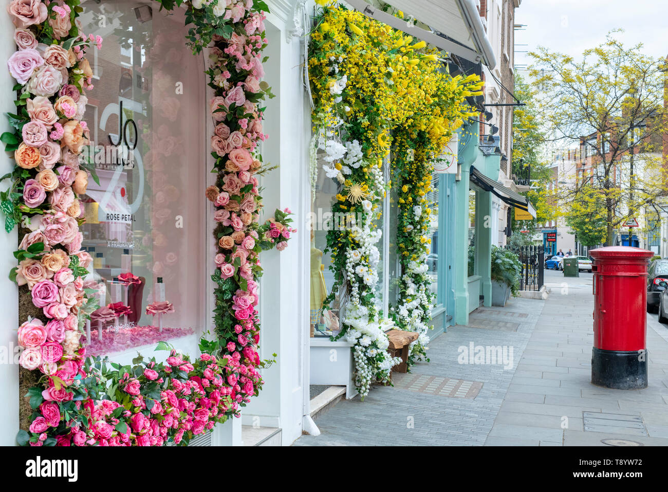 Jo Loves shop. Elizabeth Street, Belgravia, London, England - Stock Image