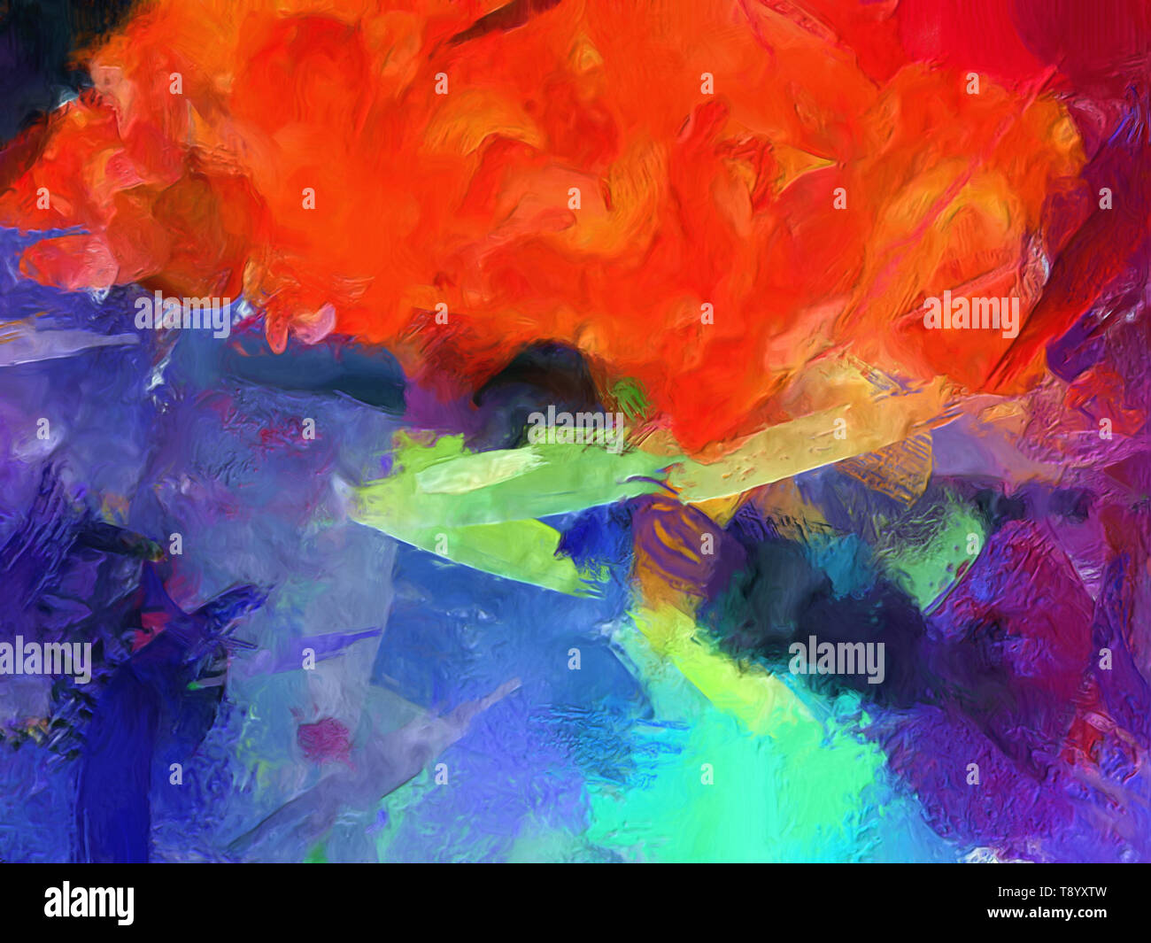 Modern abstraction painting  Wall art decor for prints on