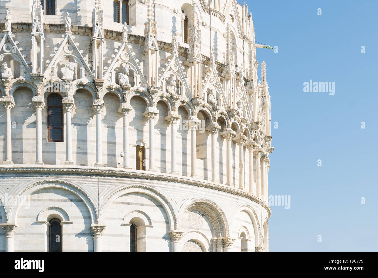 Pisa, Italy-October 21, 2018:particular of one of the symbolic places of Pisa during a sunny day - Stock Image