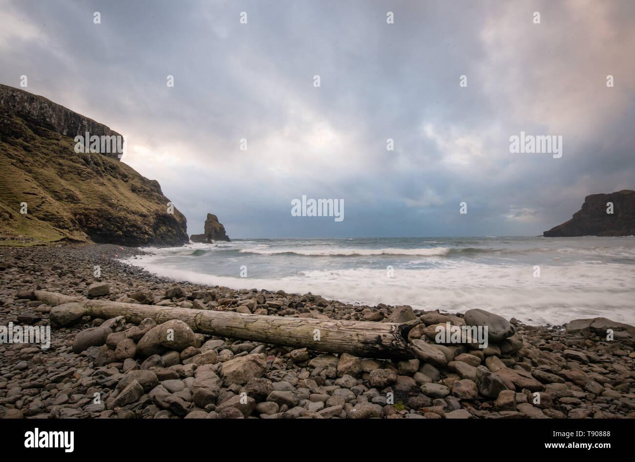 Talisker Bay, Isle of Skye, Scotland - Stock Image