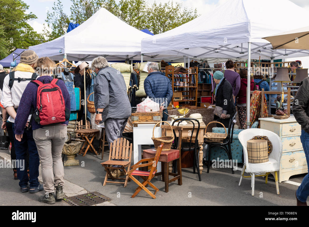 Frome Sunday Market, Frome town centre, Somerset, England - Stock Image
