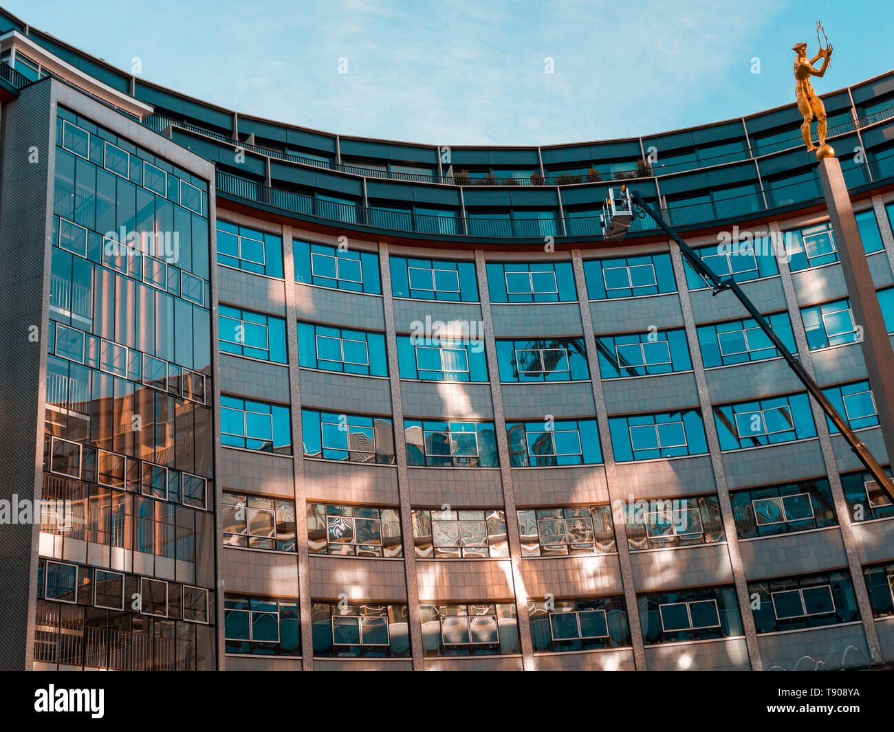 Television Centre in Shepherd's Bush formerly the home of BBC Television since 1959 is now a housing and leisure development - Stock Image