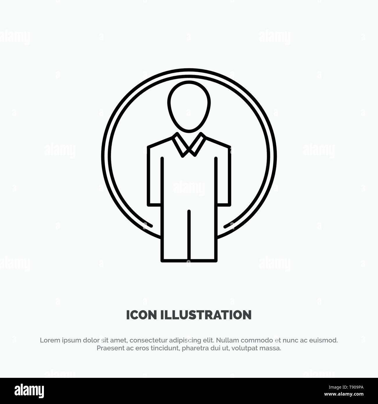 User, Id, Login, Image Line Icon Vector Stock Vector Art