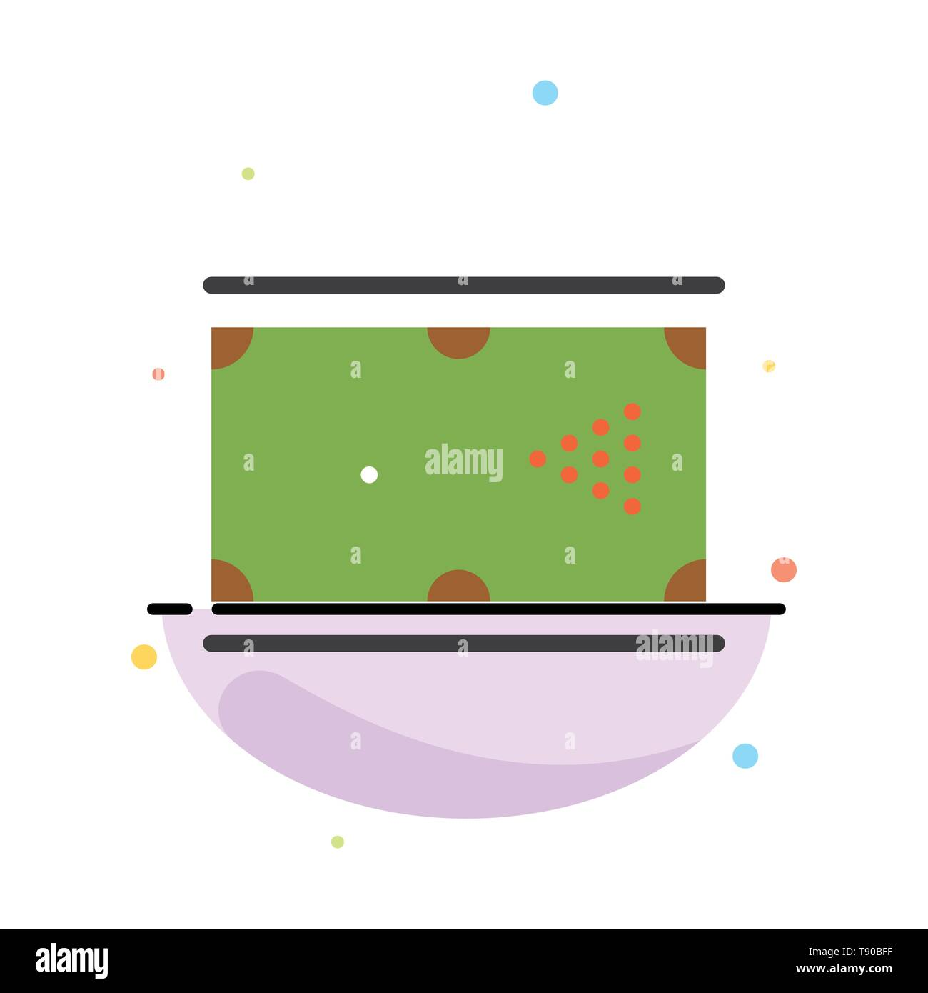 Billiards, Cue, Game, Pocket, Pool Abstract Flat Color Icon Template - Stock Vector