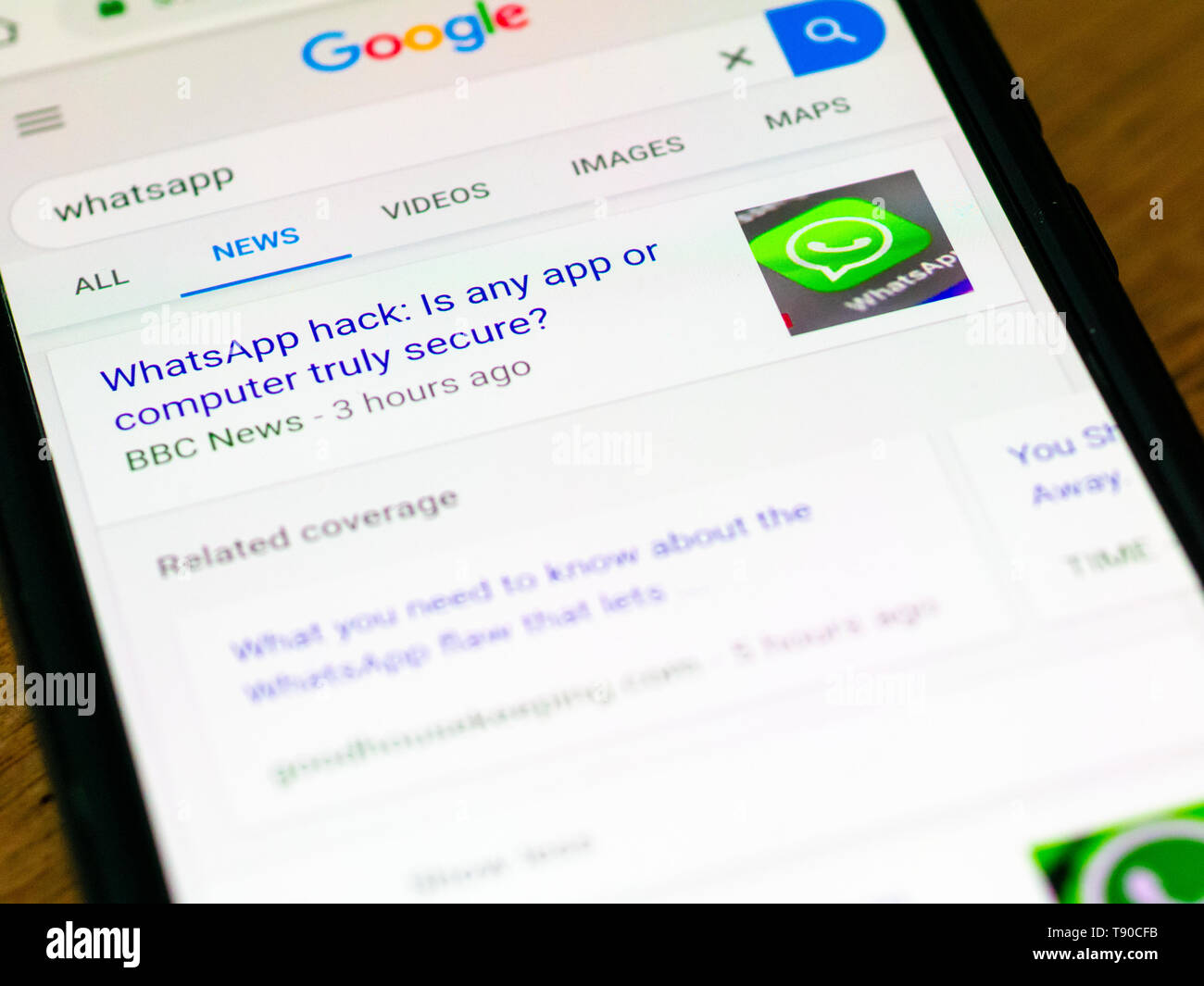 WhatsApp Messenger on a Smartphone, WhatsApp allows users to
