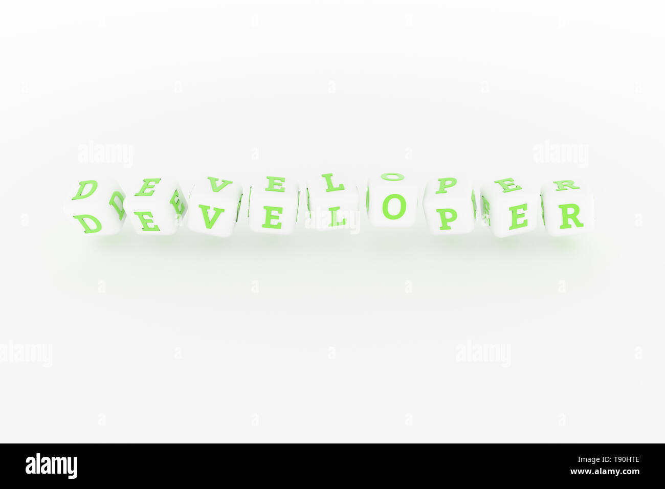 Developer computer ICT keyword. Graphic resource, texture or background, for web page or design. - Stock Image