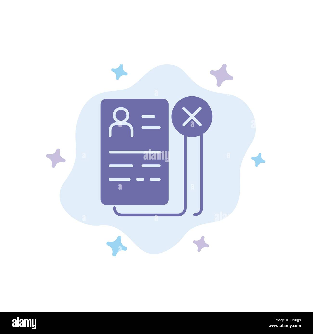 Business Career Cv Job Resume Blue Icon On Abstract Cloud