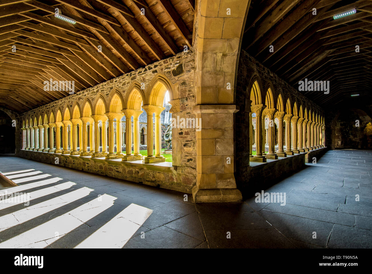 The Cloisters of Iona Abbey - Stock Image