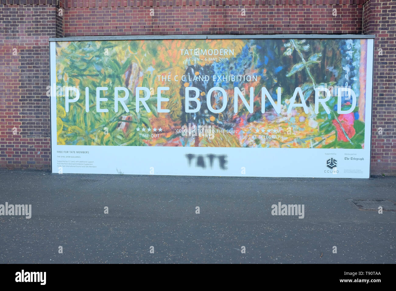 Artist Pierre Bonnard at the Tate, London, UK. Stock Photo