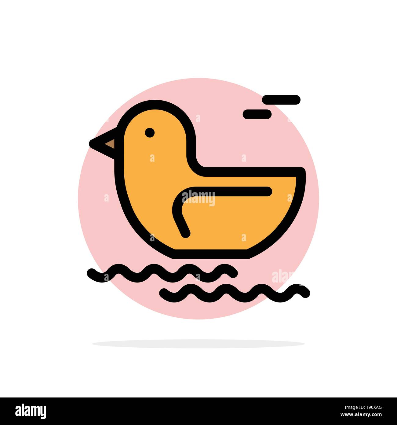 Duck, River, Canada Abstract Circle Background Flat color Icon - Stock Image