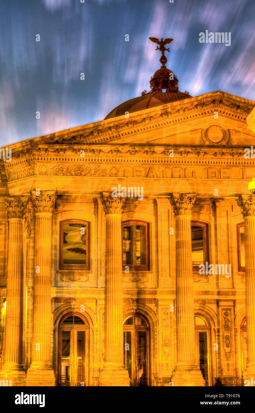 Teatro de la Paz, San Luis Potosi, Mexico - Stock Image