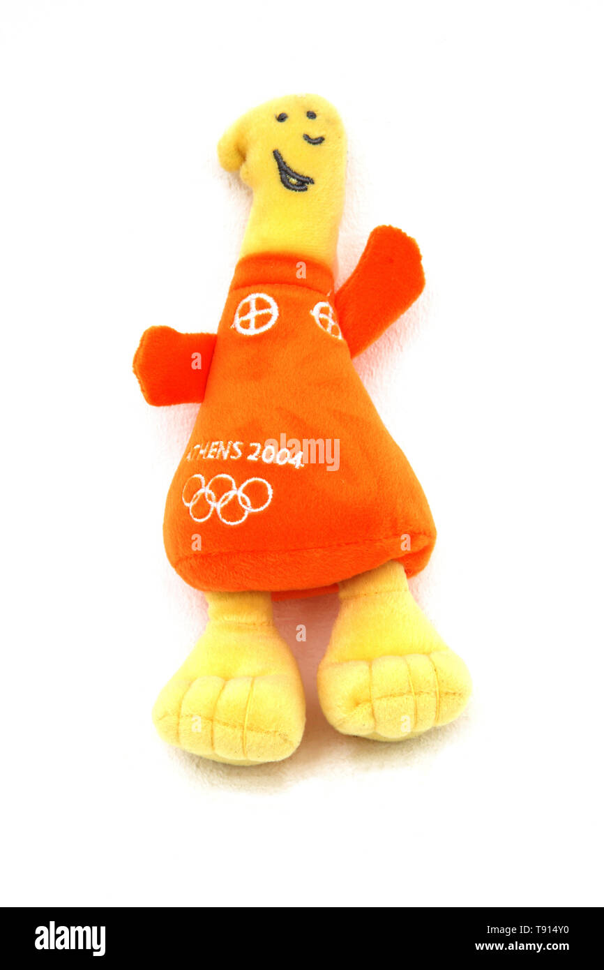 Olympic 2004 Mascot Athena Plush Toy - Stock Image