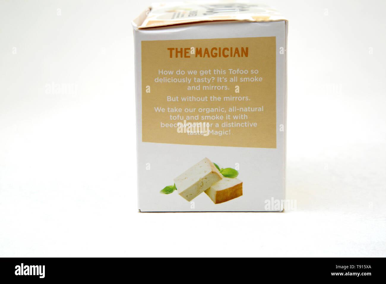 The Tofoo Co Organic Beechwood Smoked Tofu - Stock Image