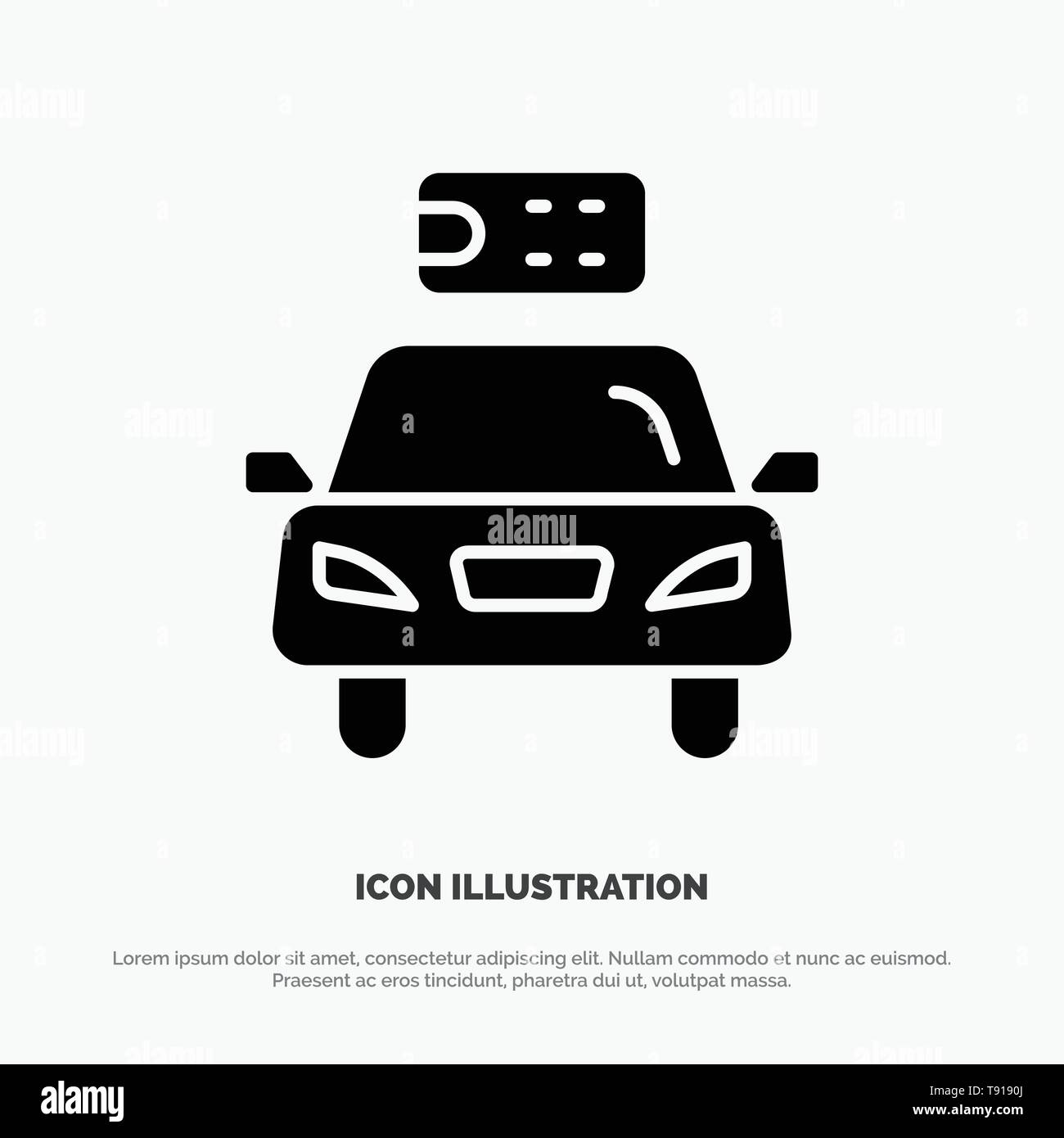 Car, Ecology, Electric, Energy, Power solid Glyph Icon