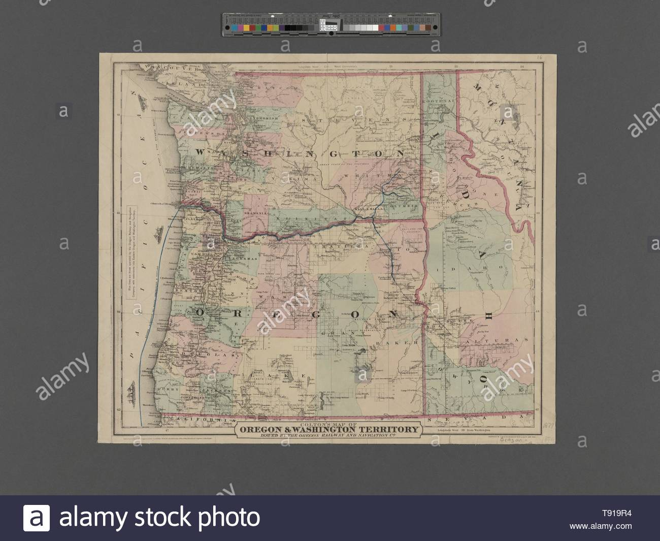 Anonymous-Colton& x27,s map of Oregon &, Washington Territory Stock on