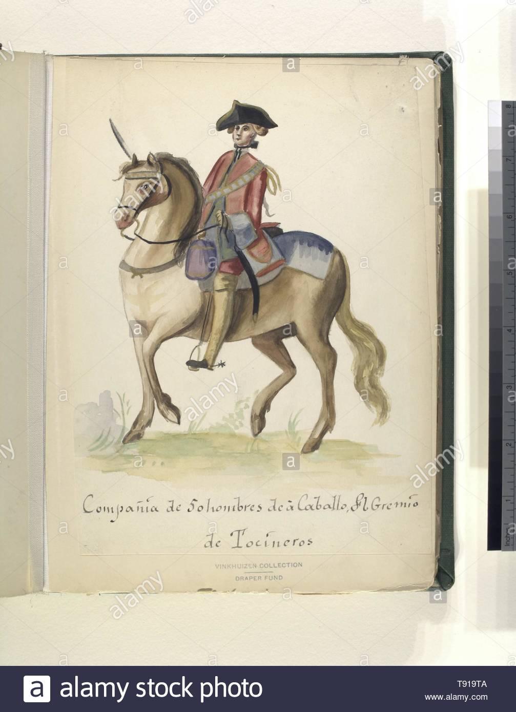 Anonymous-Compañia de 50 hombres de à caballo del gremio de tocineros - Stock Image