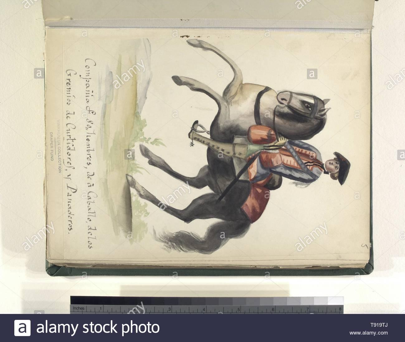 Anonymous-Compañia de 80 hombres de à caballo, de los gremios de curtidores y panaderos - Stock Image