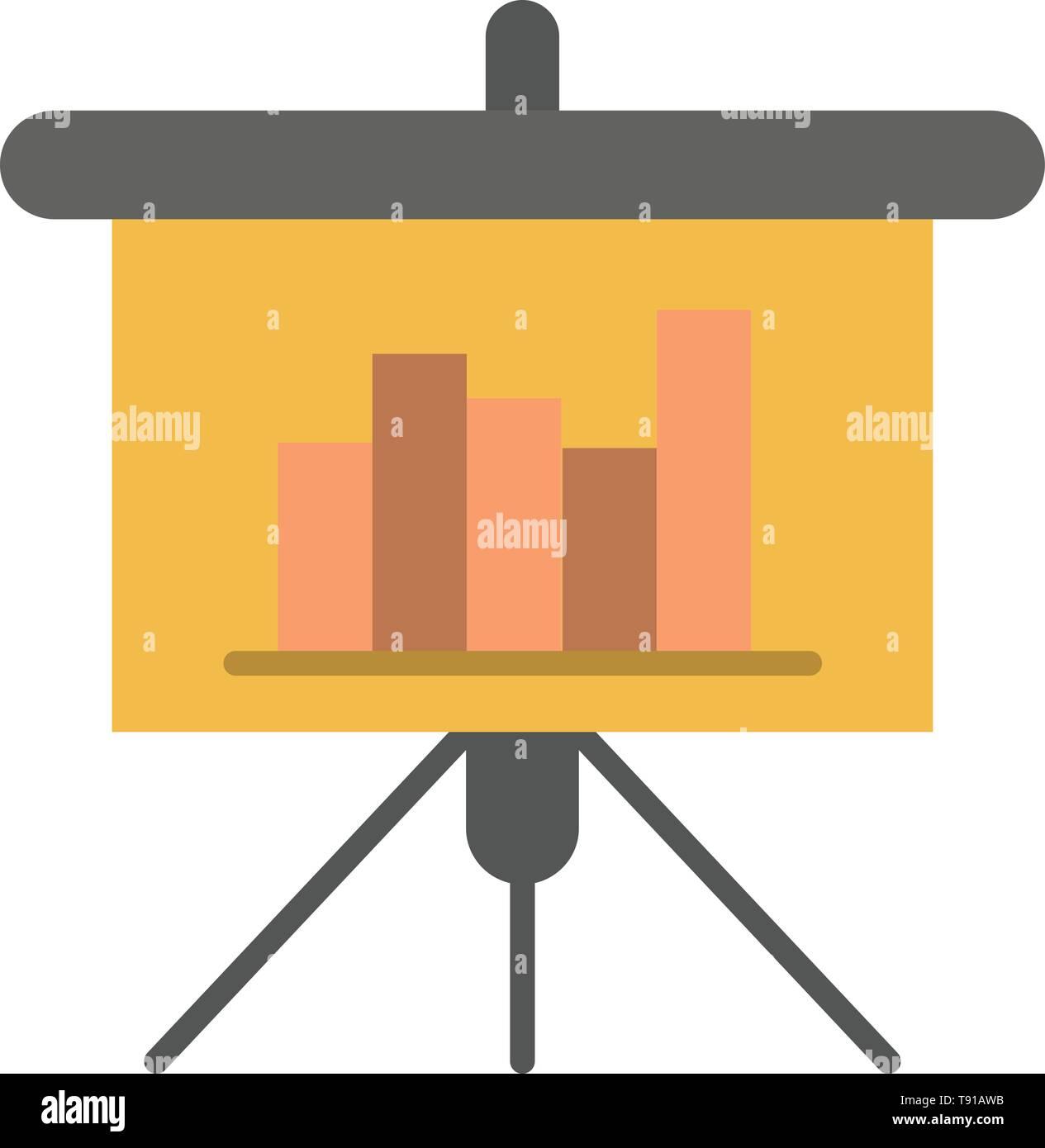Presentation, Blackboard, PowerPoint, Report Flat Color Icon