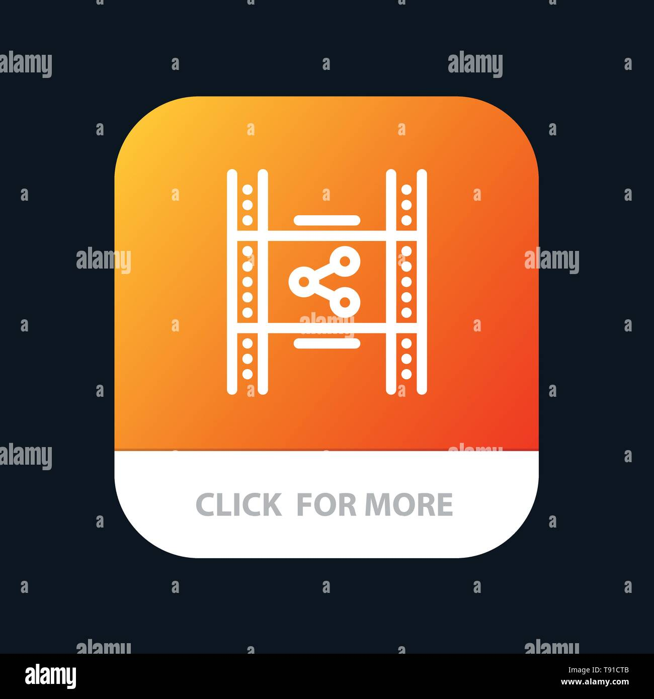 Distribution, Film, Movie, P2p, Share Mobile App Button  Android and