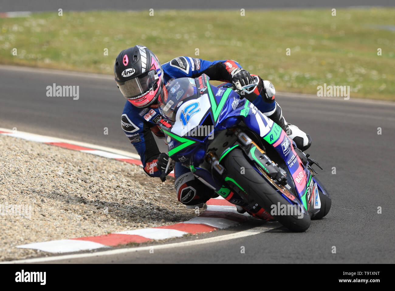 Portrush, Northern Ireland. 16th May, 2019. International North West 200 Motorcycle road racing, Thursday practice and evening racing; Paul Jordan on the Logan Racing Yamaha during the SuperSport qualifying session Credit: Action Plus Sports/Alamy Live News - Stock Image