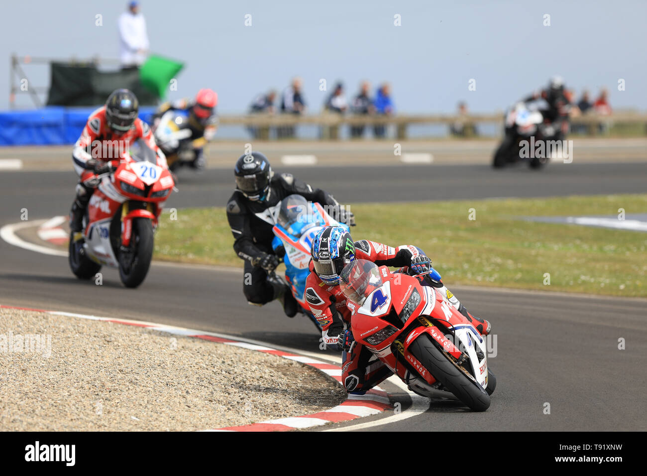 Portrush, Northern Ireland. 16th May, 2019. International North West 200 Motorcycle road racing, Thursday practice and evening racing; General action shot from the 2019 NW200 Credit: Action Plus Sports/Alamy Live News - Stock Image