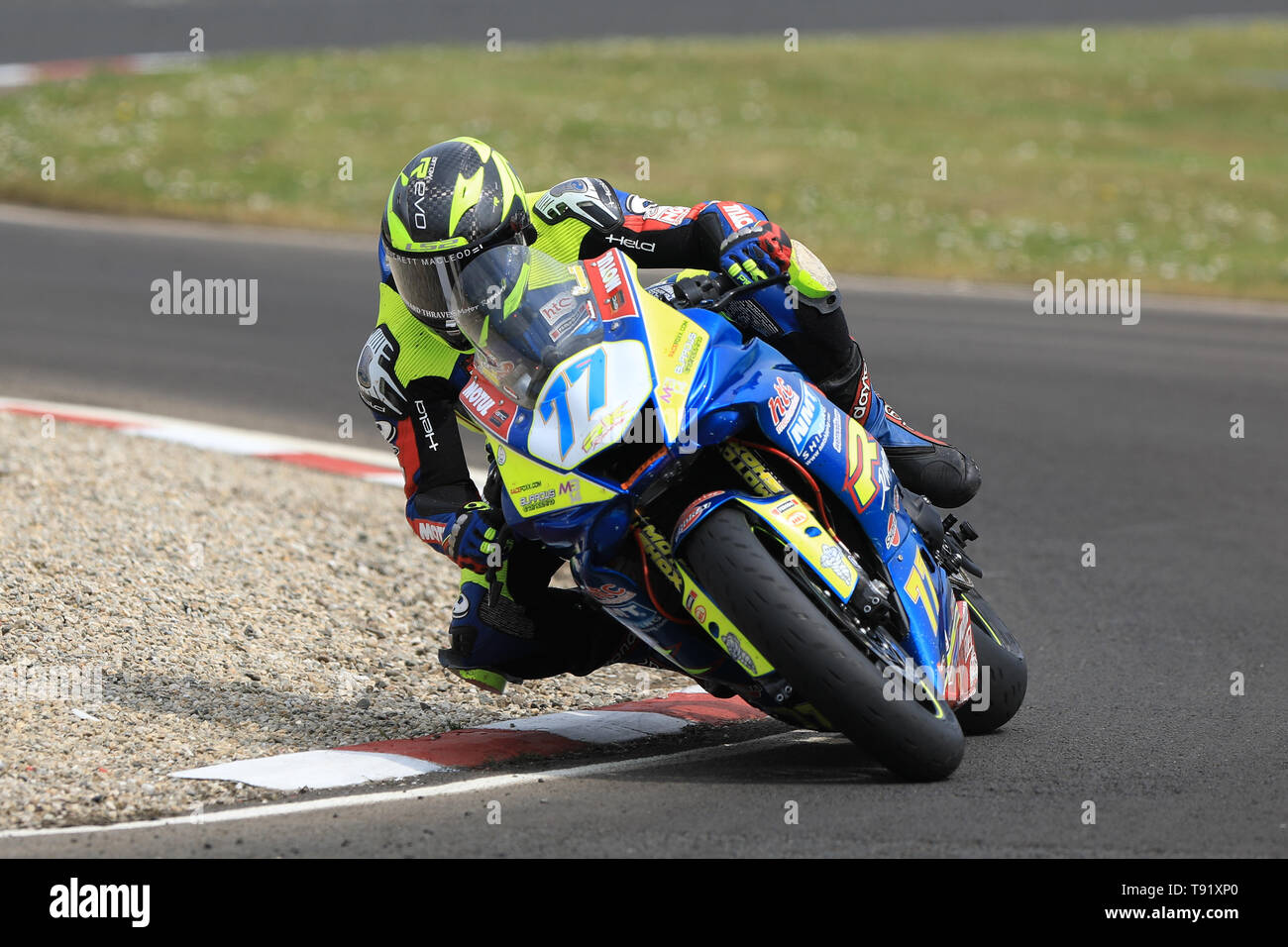 Portrush, Northern Ireland. 16th May, 2019. International North West 200 Motorcycle road racing, Thursday practice and evening racing; Tom Weeden on the Burrows Engineering/RK Racing Yamaha during the SuperSport qualifying session Credit: Action Plus Sports/Alamy Live News - Stock Image