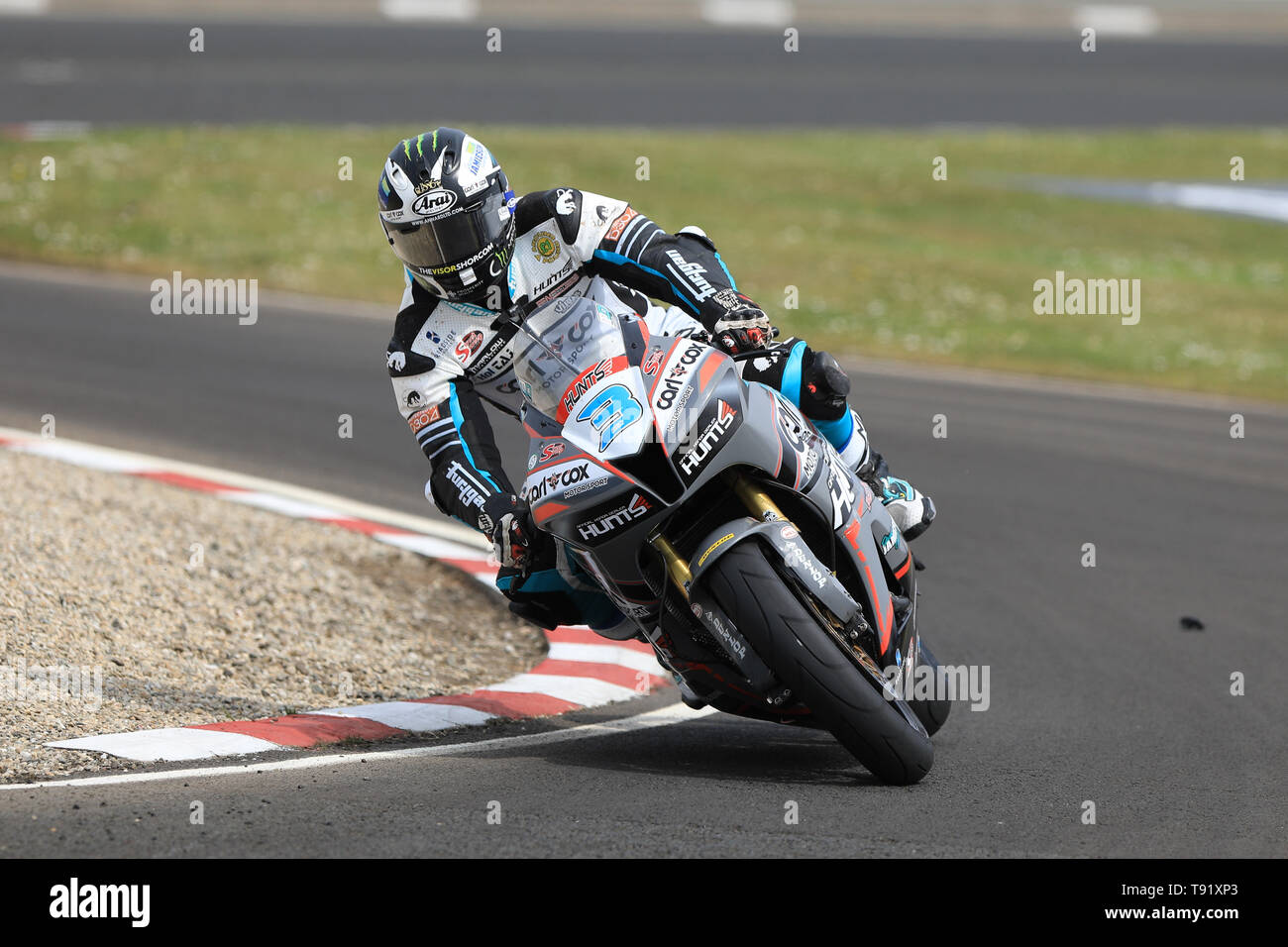 Portrush, Northern Ireland. 16th May, 2019. International North West 200 Motorcycle road racing, Thursday practice and evening racing; Michael Dunlop could only manage 7th on the MD Racing Honda during the SuperSport qualifying session Credit: Action Plus Sports/Alamy Live News - Stock Image