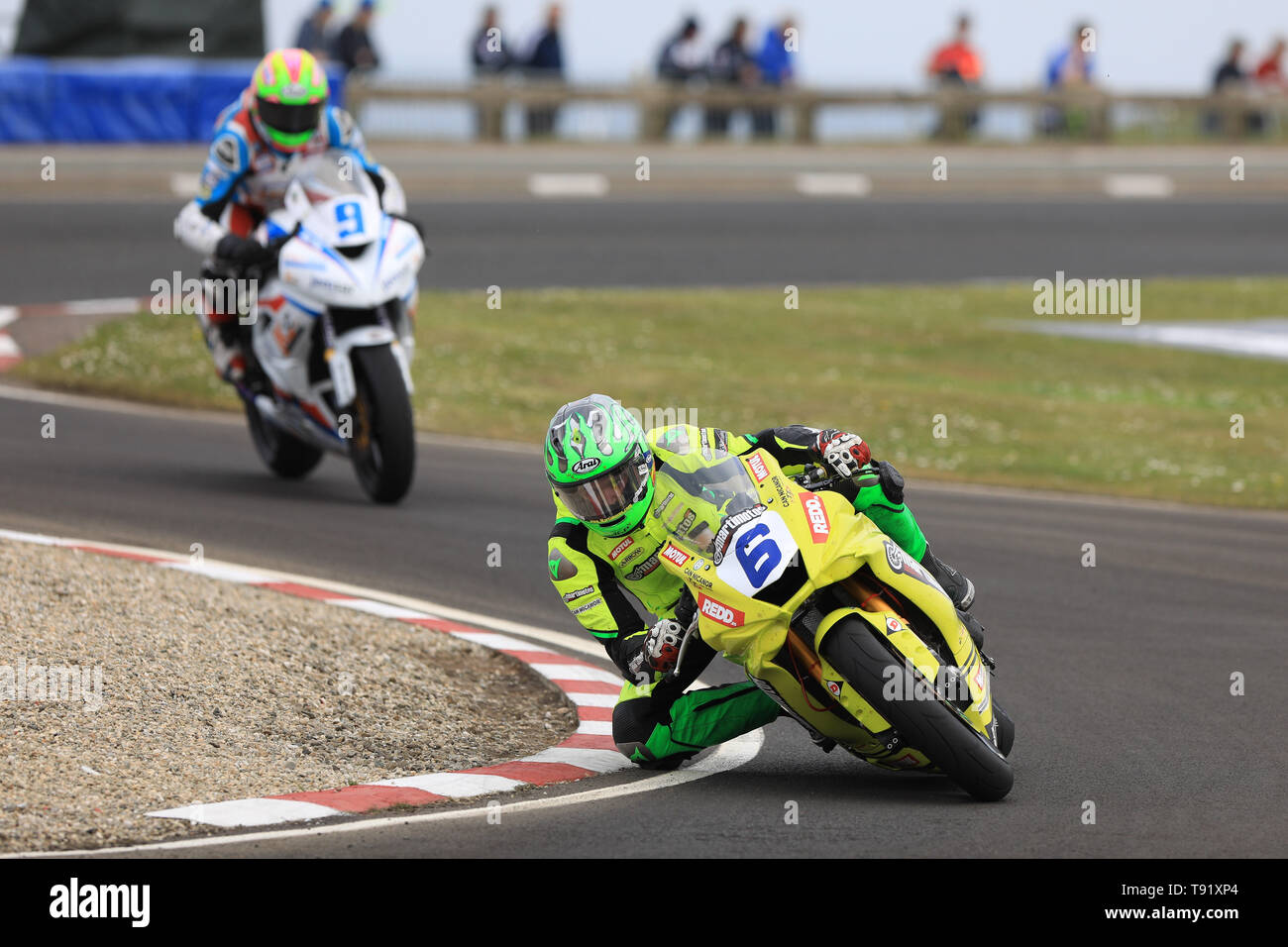 Portrush, Northern Ireland. 16th May, 2019. International North West 200 Motorcycle road racing, Thursday practice and evening racing; Spain's Victor Lopez on the Martimotos Racing Team Yamaha during the SuperSport qualifying session Credit: Action Plus Sports/Alamy Live News - Stock Image