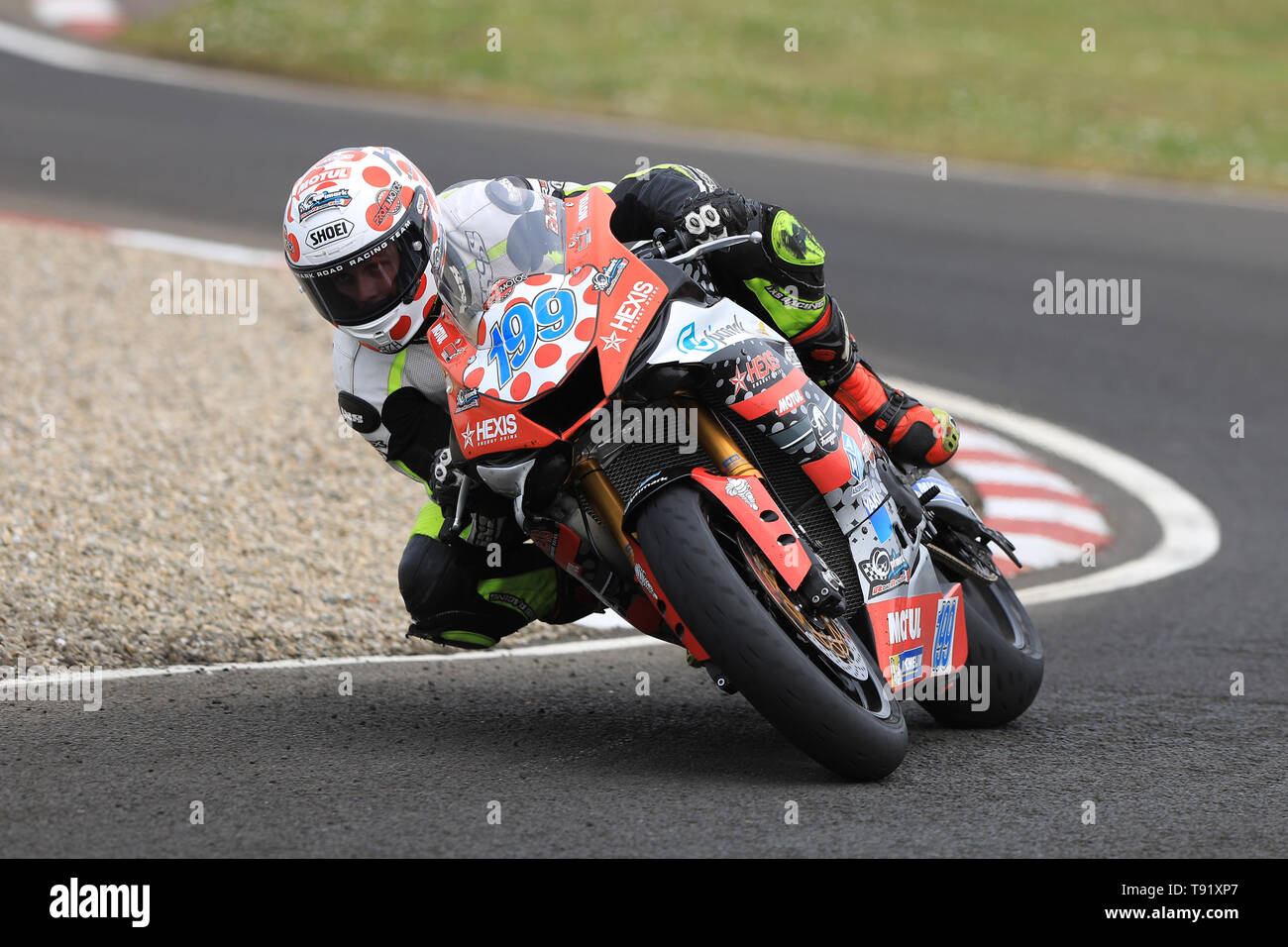 Portrush, Northern Ireland. 16th May, 2019. International North West 200 Motorcycle road racing, Thursday practice and evening racing; France's Pierre Yves Bian on the Optimark Road Racing Team Yamaha during the SuperSport qualifying session Credit: Action Plus Sports/Alamy Live News - Stock Image