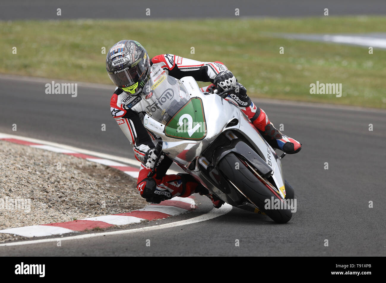 Portrush, Northern Ireland. 16th May, 2019. International North West 200 Motorcycle road racing, Thursday practice and evening racing; John McGuinness on the Norton during the SuperTwins qualifying session Credit: Action Plus Sports/Alamy Live News - Stock Image