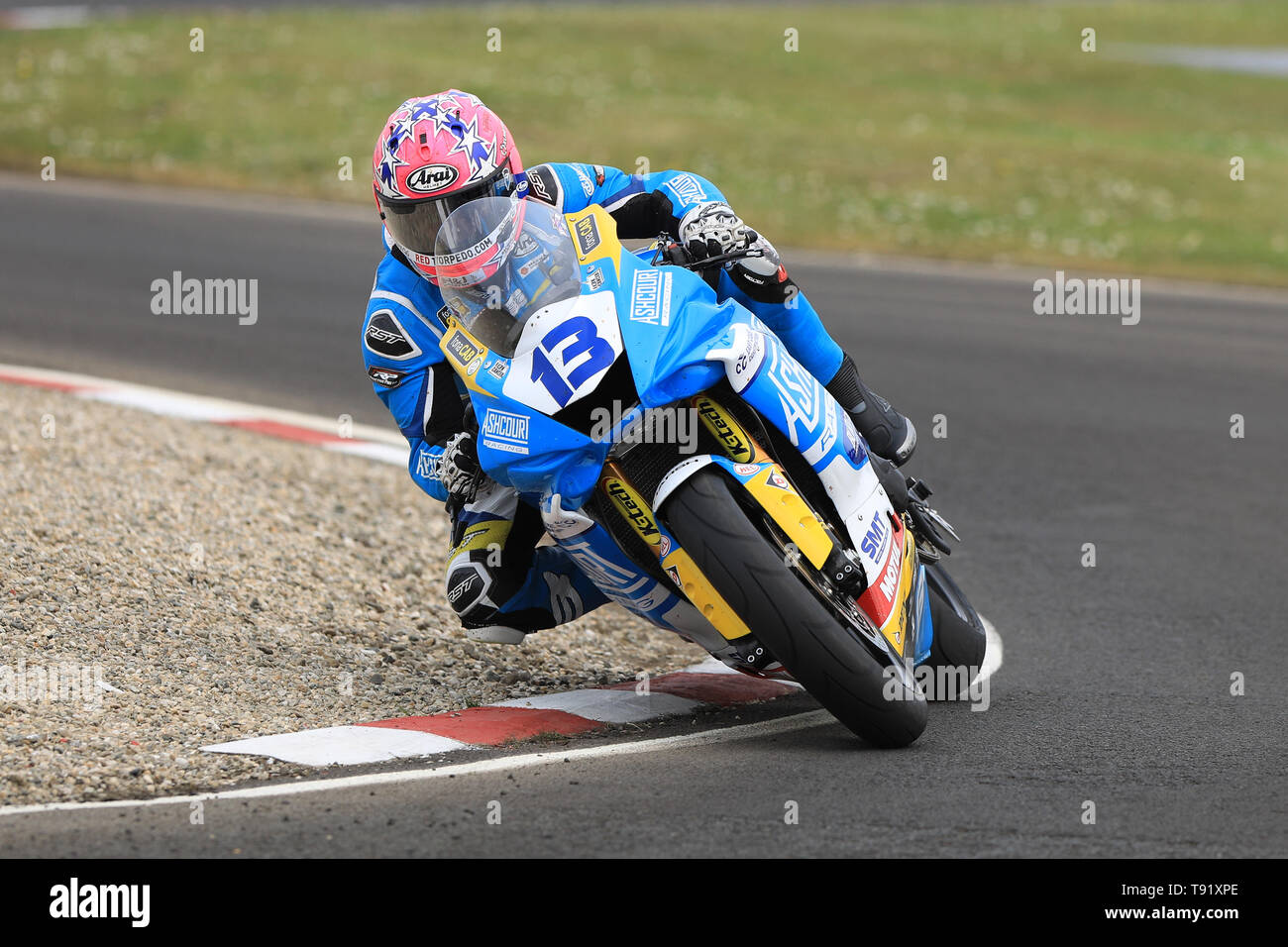 Portrush, Northern Ireland. 16th May, 2019. International North West 200 Motorcycle road racing, Thursday practice and evening racing; Lee Johnston was fastest on the Ashcourt Racing Yamaha during the SuperSport qualifying session Credit: Action Plus Sports/Alamy Live News - Stock Image