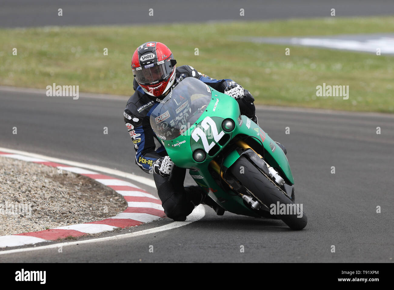 Portrush, Northern Ireland. 16th May, 2019. International North West 200 Motorcycle road racing, Thursday practice and evening racing; Liechtenstein's Horst Saiger was 6th fastest on the ILR/Mark Coverdale Paton during the SuperSport qualifying session Credit: Action Plus Sports/Alamy Live News - Stock Image