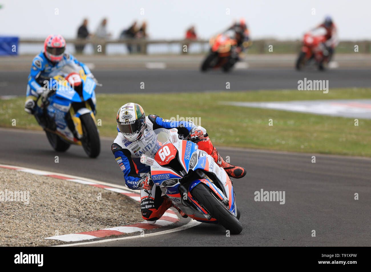 Portrush, Northern Ireland. 16th May, 2019. International North West 200 Motorcycle road racing, Thursday practice and evening racing; Peter Hickman goes fastest on the Smiths Racing BMW during the SuperSport qualifying session, before the session was red flagged Credit: Action Plus Sports/Alamy Live News - Stock Image
