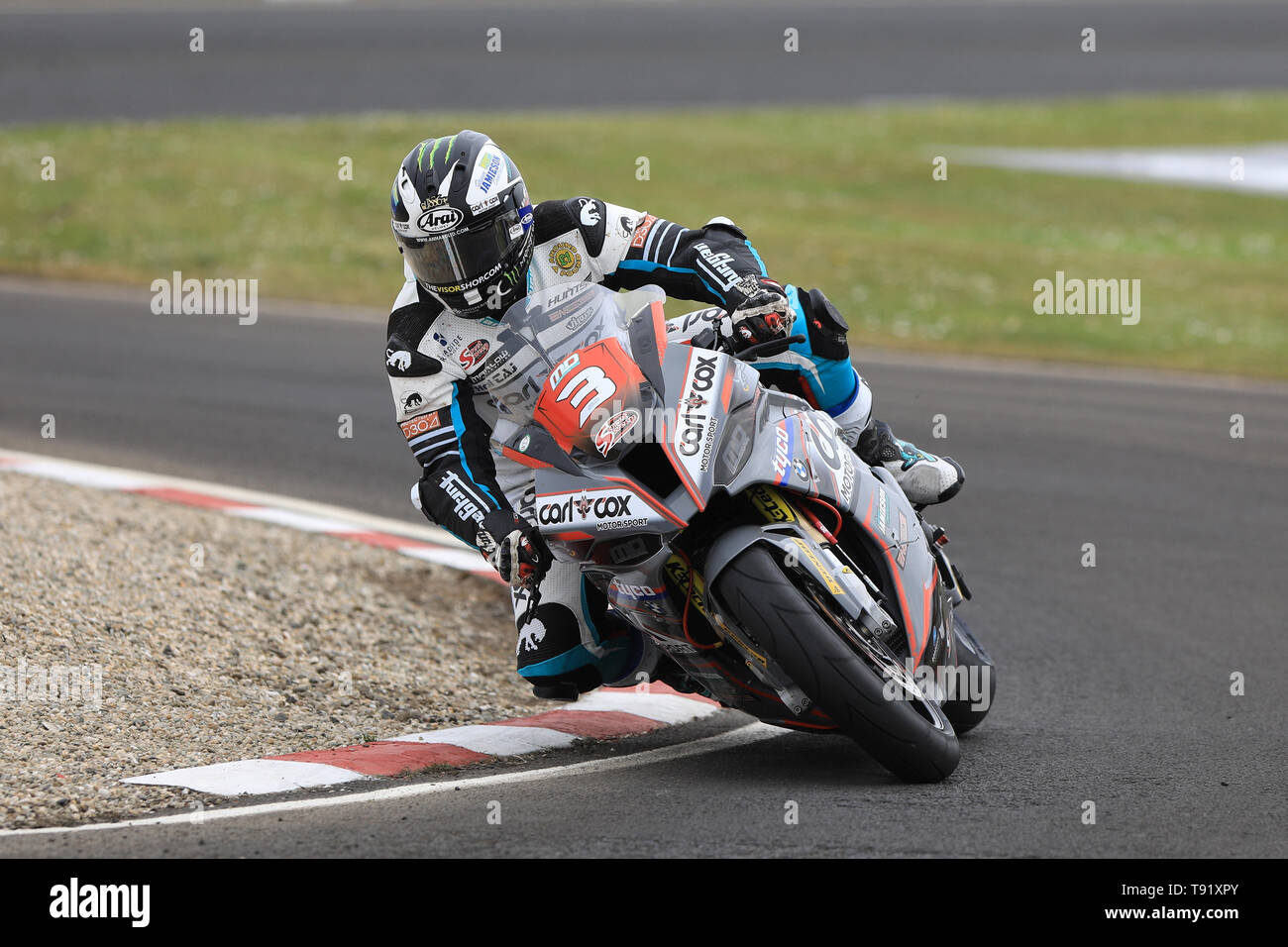 Portrush, Northern Ireland. 16th May, 2019. International North West 200 Motorcycle road racing, Thursday practice and evening racing; Michael Dunlop was 4th fastest on the MD Racing BMW during the SuperStock qualifying session Credit: Action Plus Sports/Alamy Live News - Stock Image