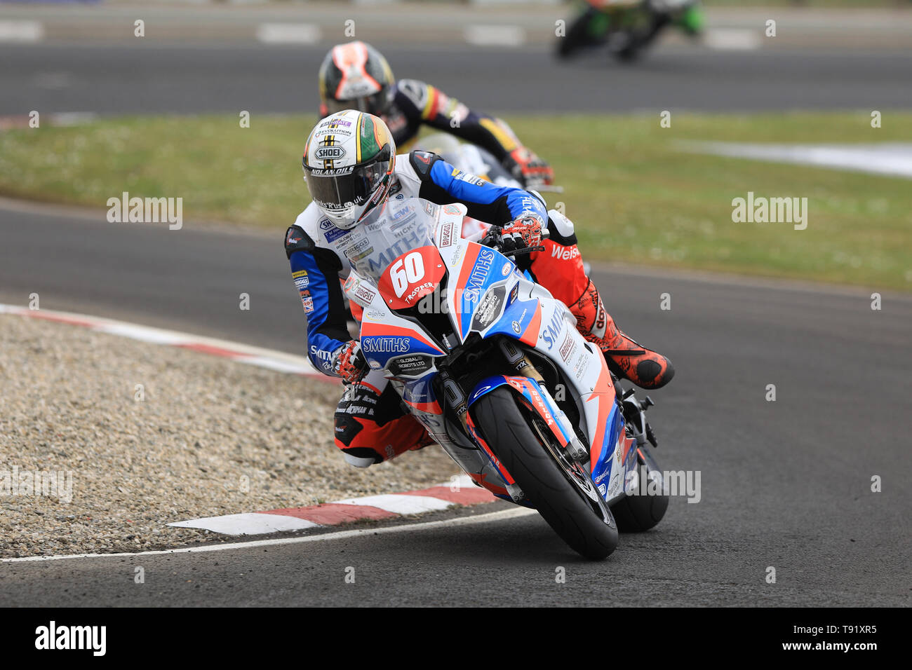 Portrush, Northern Ireland. 16th May, 2019. International North West 200 Motorcycle road racing, Thursday practice and evening racing; Peter Hickman goes fastest on the Smiths Racing BMW during the SuperSport qualifying session Credit: Action Plus Sports/Alamy Live News - Stock Image