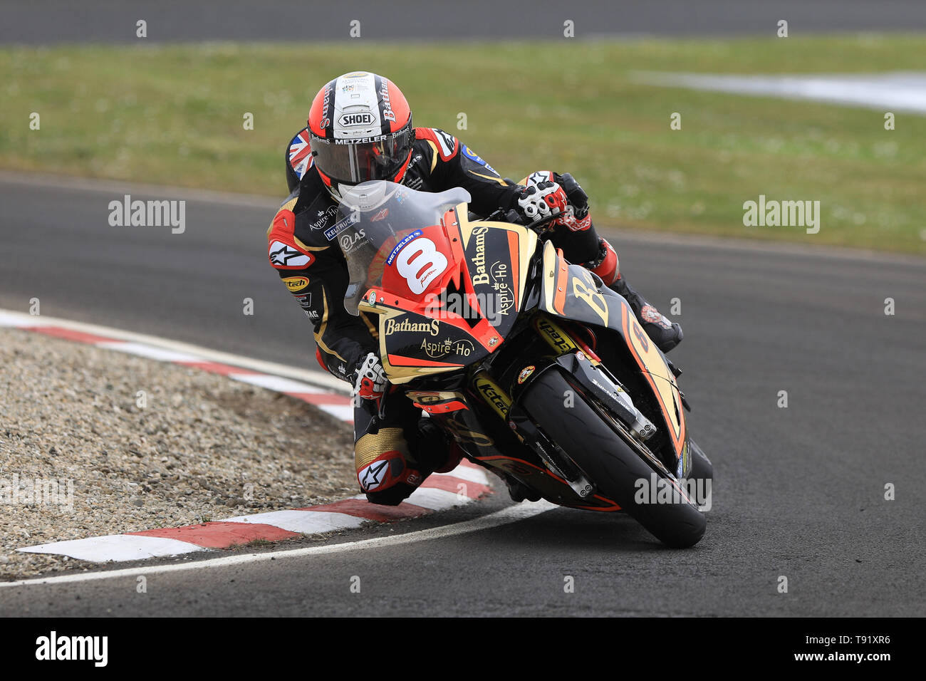 Portrush, Northern Ireland. 16th May, 2019. International North West 200 Motorcycle road racing, Thursday practice and evening racing; Michael Rutter was 7th fastest on the Bathams Racing BMW during the SuperStock qualifying session Credit: Action Plus Sports/Alamy Live News - Stock Image