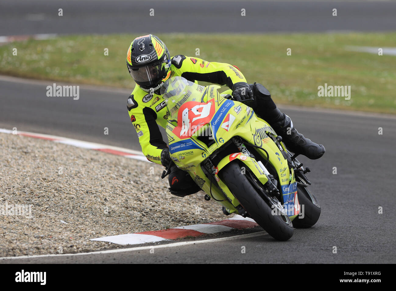 Portrush, Northern Ireland. 16th May, 2019. International North West 200 Motorcycle road racing, Thursday practice and evening racing; Spain's Raul Torras Martinez on the Raul Torras Kawasaki during the SuperSport qualifying session Credit: Action Plus Sports/Alamy Live News - Stock Image