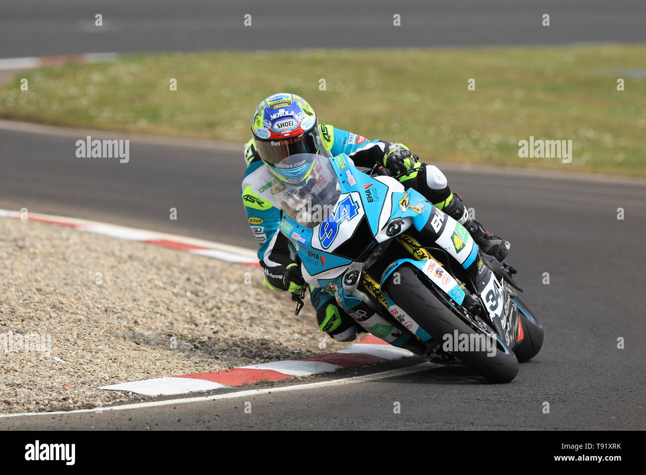 Portrush, Northern Ireland. 16th May, 2019. International North West 200 Motorcycle road racing, Thursday practice and evening racing; Alastair Seeley went 6th fastest on the EHA Racing Yamaha during the SuperSport qualifying session Credit: Action Plus Sports/Alamy Live News - Stock Image